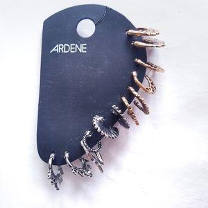 Ardene Brand NWT Small Hoops Earrings Set